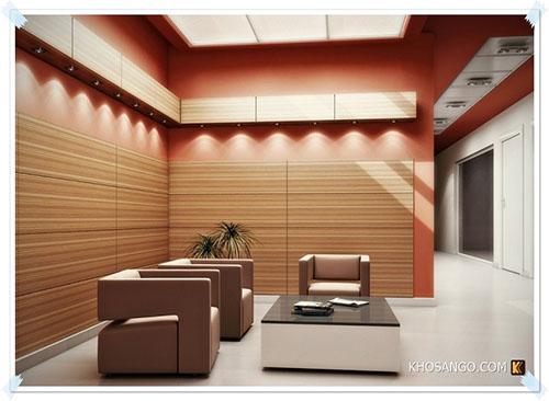 mẫu phòng khách ốp gỗ 7