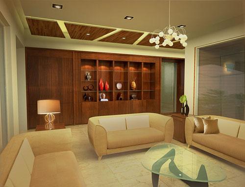 mẫu phòng khách ốp gỗ 9