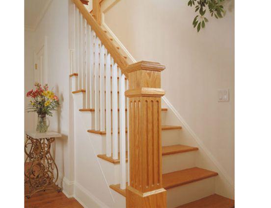 cầu thang gỗ đẹp--Kiểu dáng 7