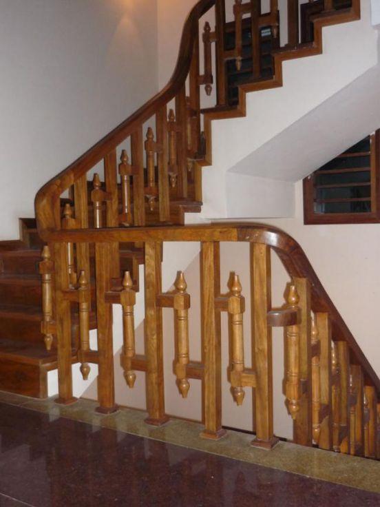 cầu thang gỗ đẹp--Kiểu dáng 2