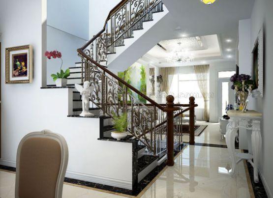 mẫu cầu thang đẹp nhà ống--Thiết kế 1