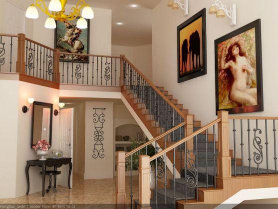 mẫu cầu thang đẹp nhà ống--Thiết kế 10