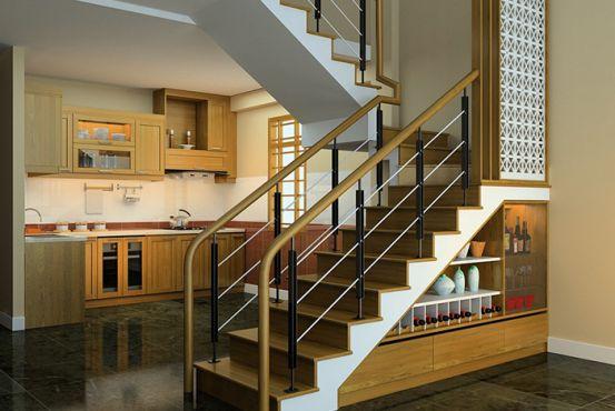 mẫu cầu thang đẹp nhà ống--Thiết kế 4