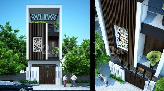mẫu nhà đẹp 2 tầng diện tích 5x20--Kiến trúc 13