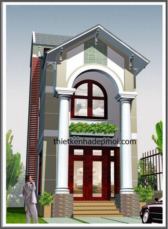 mẫu nhà đẹp 2 tầng diện tích 5x20--Kiến trúc 3