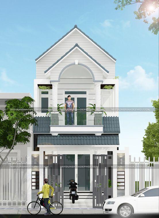 mẫu nhà đẹp 2 tầng diện tích 5x20--Kiến trúc 4