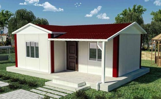 Thiết kế nhà cấp 4 mái tôn đơn giản--Mẫu 1