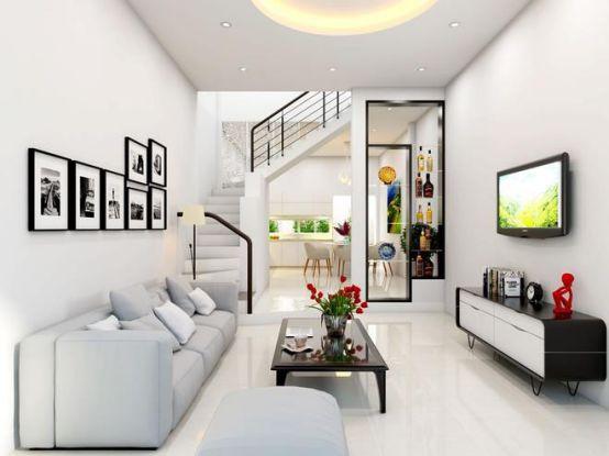 Thiết kế mẫu phòng khách đẹp kiểu dáng hiện đại ảnh 1