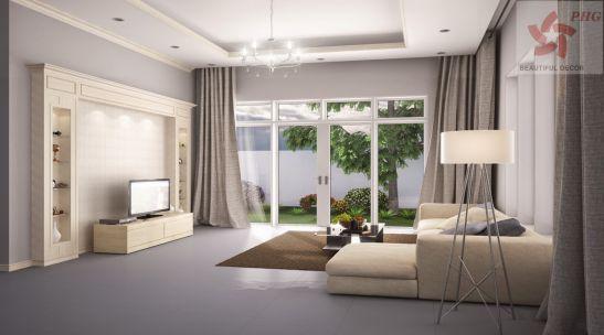 Thiết kế mẫu phòng khách đẹp kiểu dáng hiện đại ảnh 14