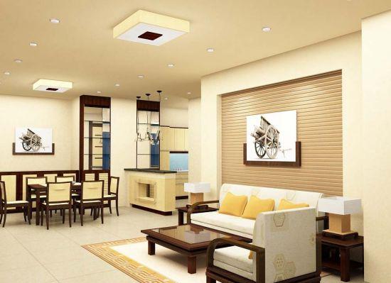 Thiết kế mẫu phòng khách đẹp kiểu dáng hiện đại ảnh 3