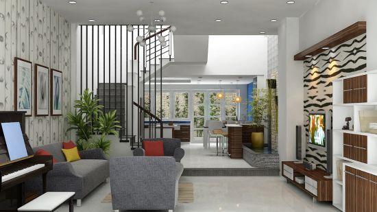 Thiết kế mẫu phòng khách đẹp kiểu dáng hiện đại ảnh 6