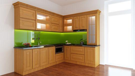 mẫu tủ bếp đẹp hình chữ l--Mẫu 1