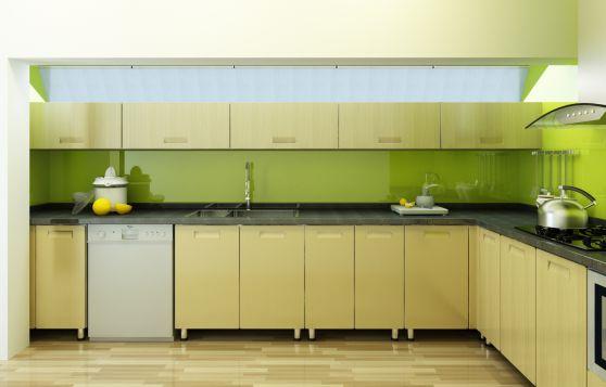 mẫu tủ bếp đẹp hình chữ l--Mẫu 10