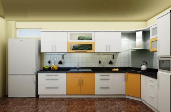 mẫu tủ bếp đẹp hình chữ l--Mẫu 12