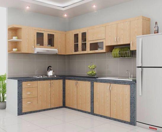 mẫu tủ bếp đẹp hình chữ l--Mẫu 2