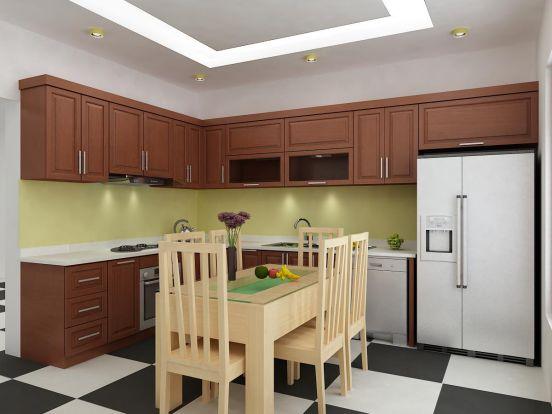 mẫu tủ bếp đẹp hình chữ l--Mẫu 3