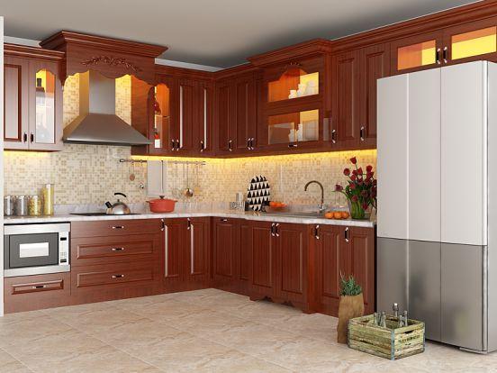 mẫu tủ bếp đẹp hình chữ l--Mẫu 4