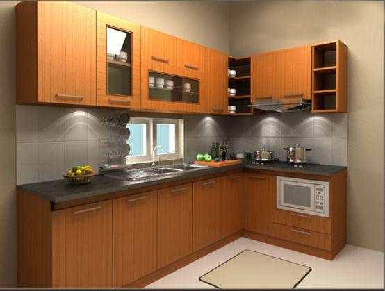 mẫu tủ bếp đẹp hình chữ l--Mẫu 7