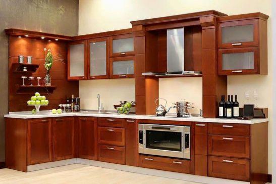mẫu tủ bếp đẹp hình chữ l--Mẫu 8