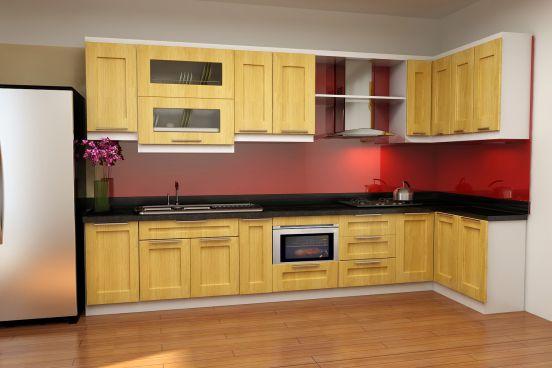 mẫu tủ bếp đẹp hình chữ l--Mẫu 9