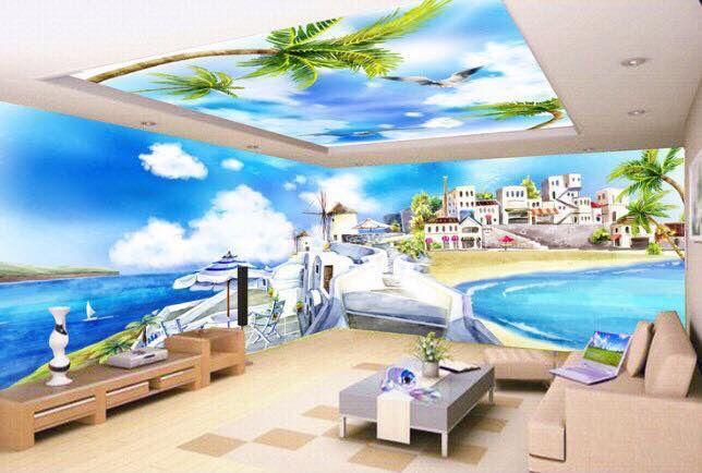 Tường nhà có tranh phong thủy đẹp
