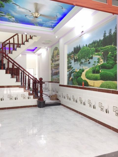 Tường nhà trang trí tranh phong thủy