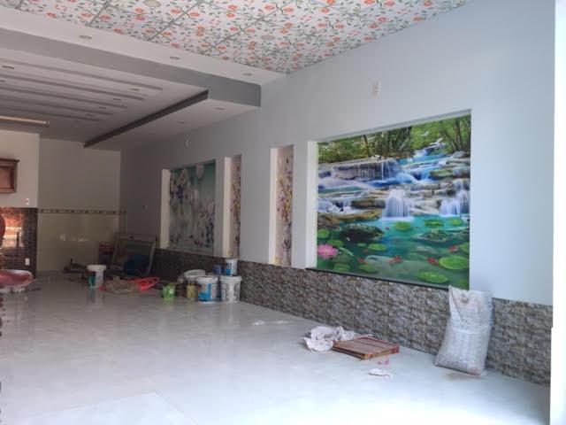 Tường trang trí tranh phong thủy